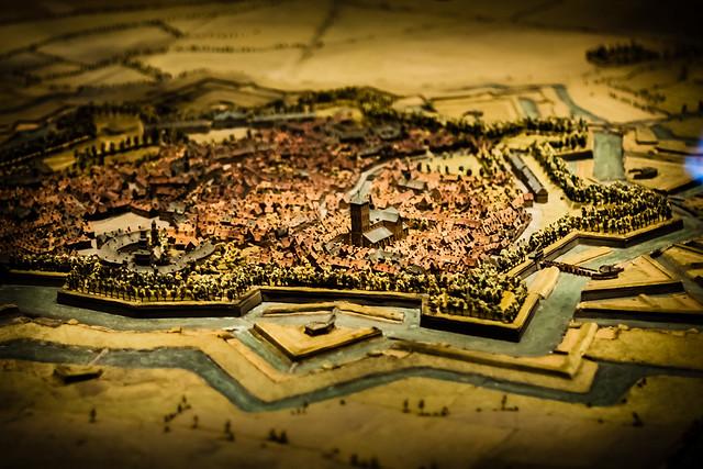 Three Dimensional Miniature Scale Town Relief Map, Lille, France, Le Palais Des Beaux Arts
