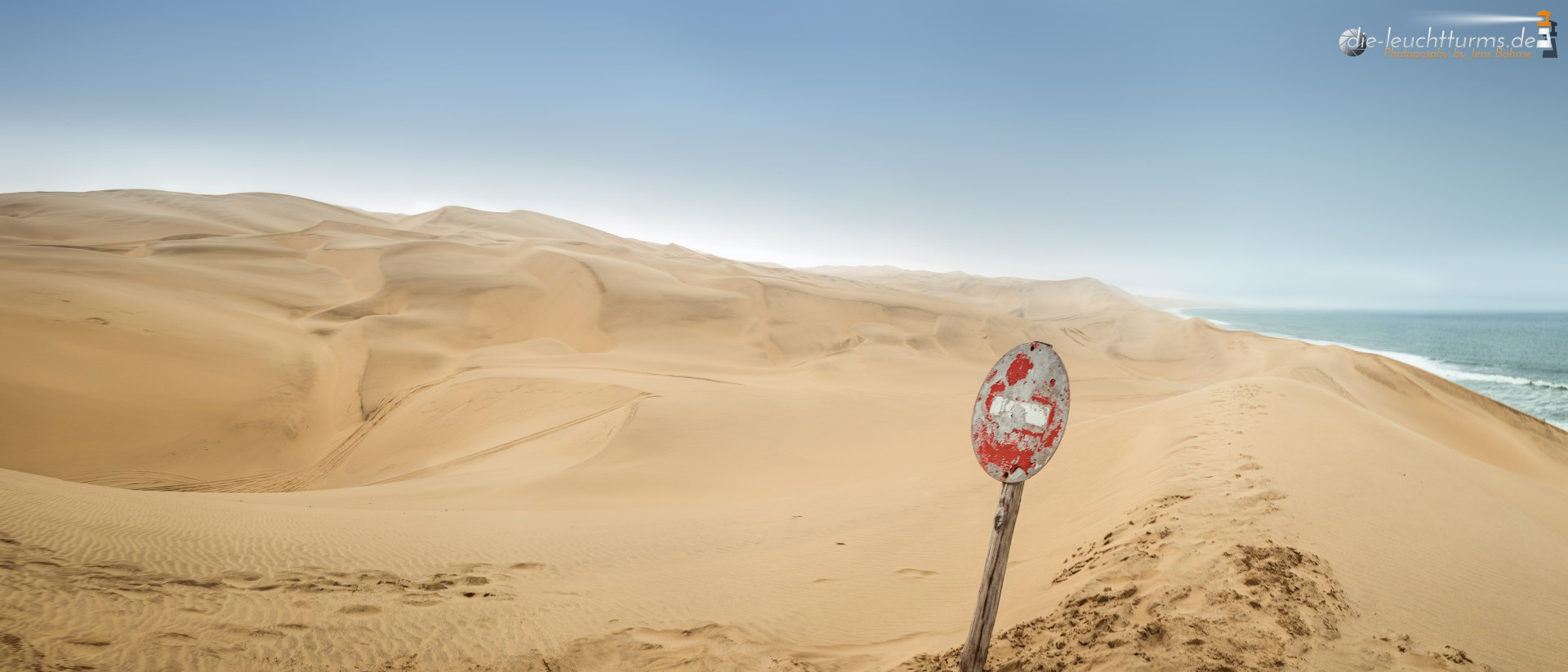 The end of the road, where the desert meets the ocean