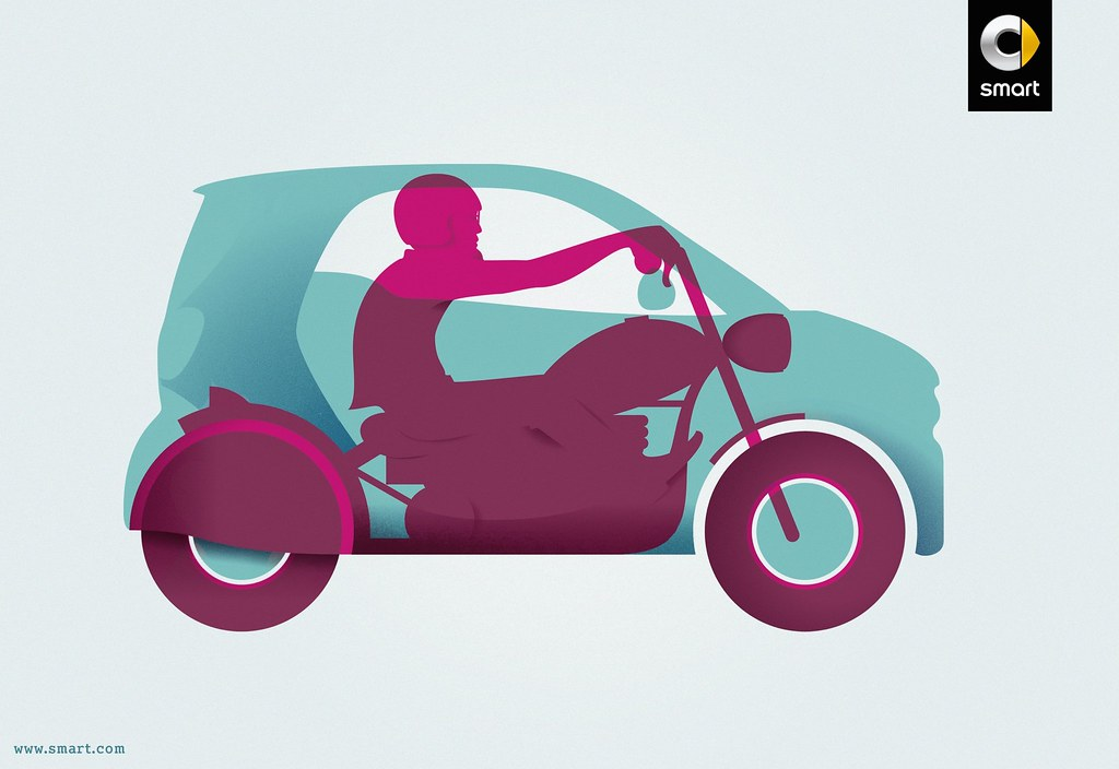 Smart - All the benefits of a motorbike in a car 3