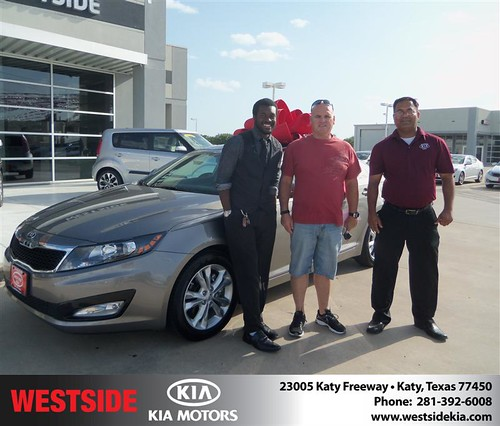 Westside Kia would like to say Congratulations to Wheels Lt on the 2013 Kia Optima from Rubel Chowdhury by Westside KIA