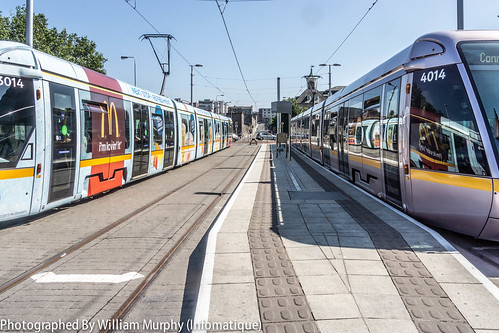 Streets Of Dublin -LUAS Tram Stop at Heuston Station by infomatique