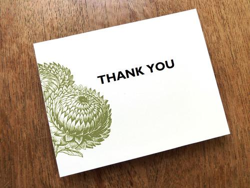 Thank You Printable - Thistle