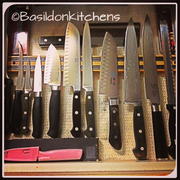 Aug 31 - dangerous {sharp knives in the kitchen are necessary but can be dangerous!} #fmsphotoaday #knife #kitchen #henkles #mac #shun