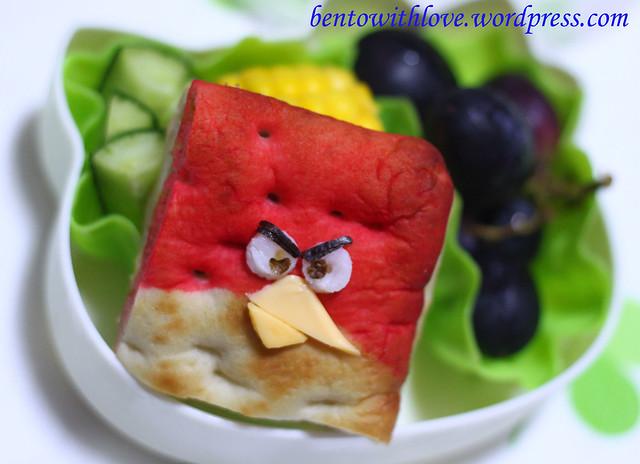 Squarish Angry Bird Bento