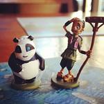 Panda and farmer