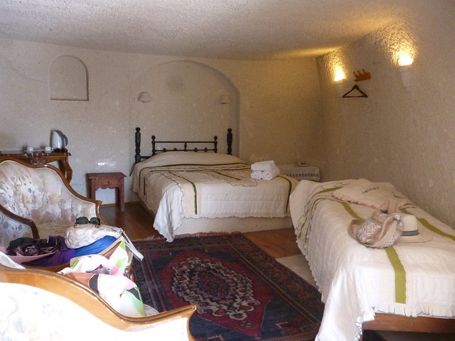In a cave hotel room