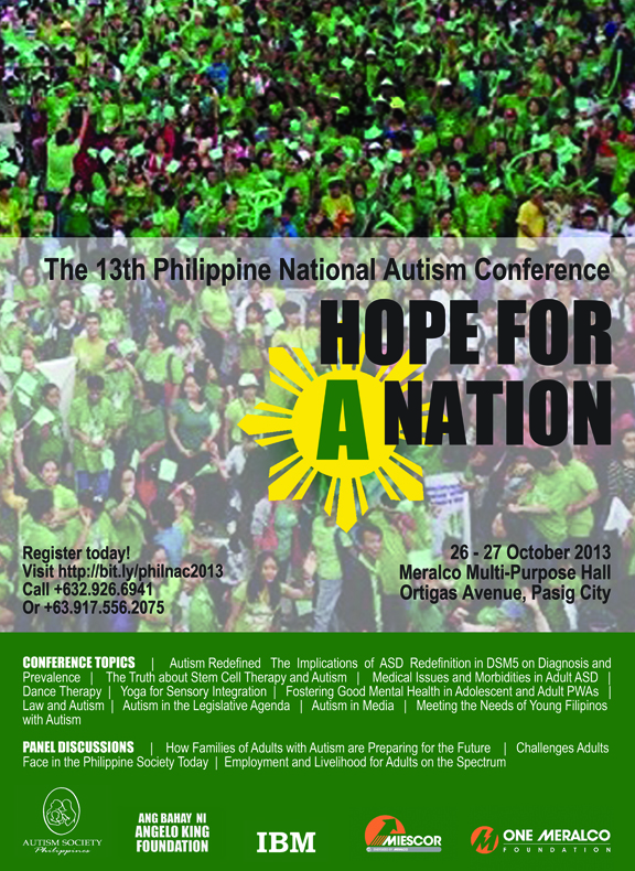 13th Philippine National Autism Conference: HOPE FOR