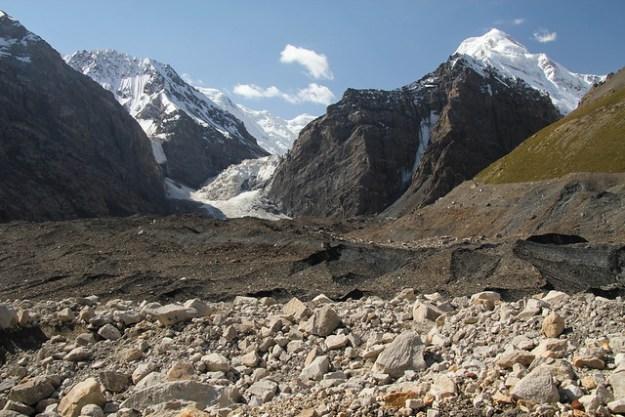 Merzbacher Station to Camp Komsomolets. South Inylchek Glacier Trek