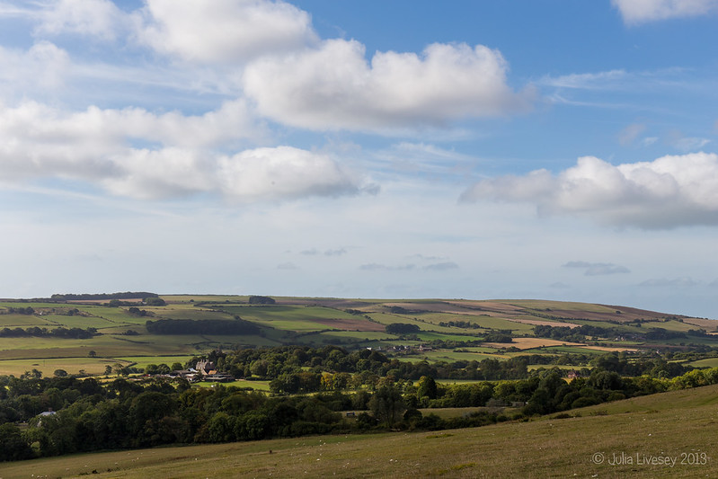 View across Church Knowle from Knowle Hill
