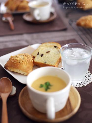 コーンパン レーズンパン レンズ豆ポタージュ 20150521-IMG_3014