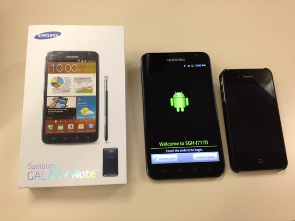 Yay for new gadget deliveries on Friday afternoon! #phablet