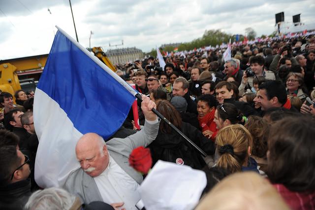 Enorme Bain de foule à l'arrivée de Ségolène Royal