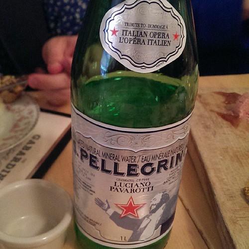 Luciano Pavarotti S. Pellegrino bottle