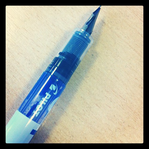 My disposable fountain pen ran out :(