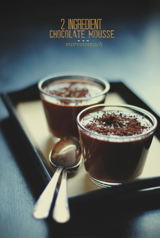 2 ingredient chocolate mousse