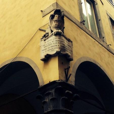 Targa Galileo Galilei in Borgo Stretto, Pisa