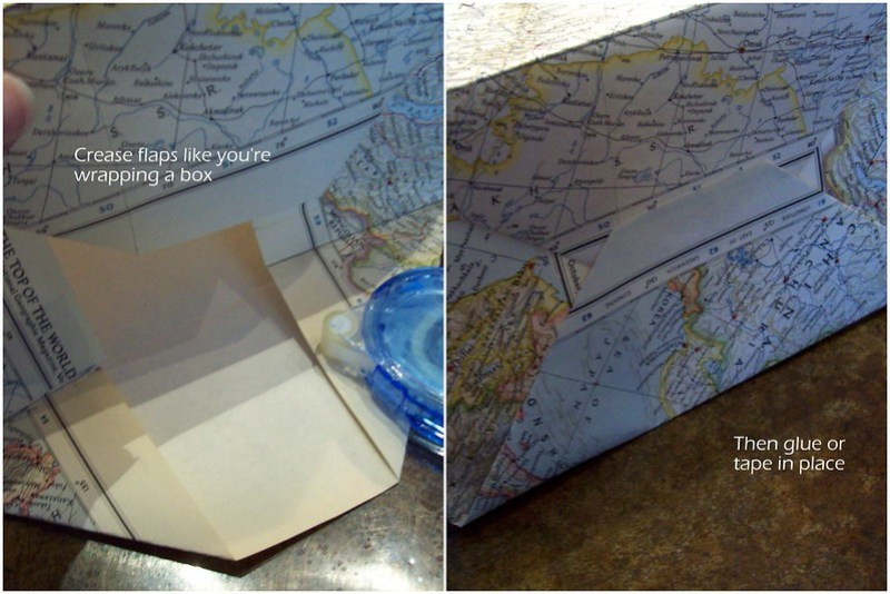 folding and gluing bottom of bag