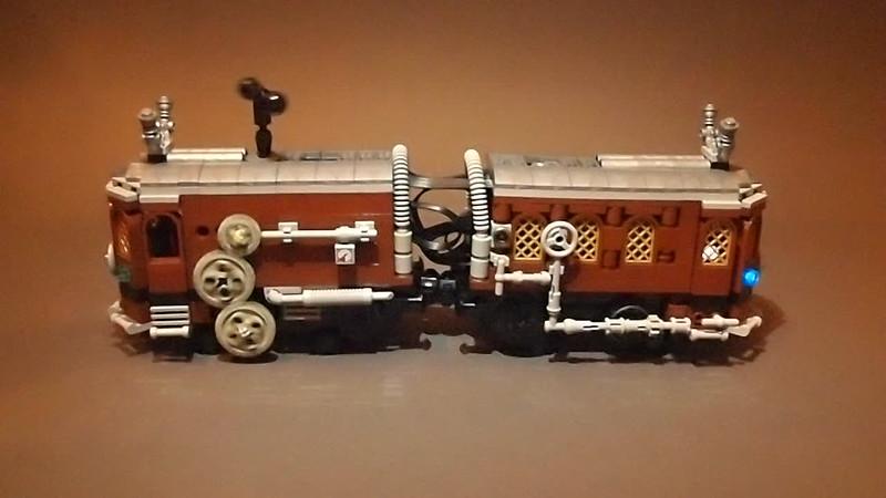 Steampunk Tram. Action