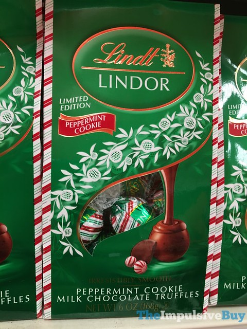 Lindt Lindor Limited Edition Peppermint Cookie Milk Chocolate Truffles