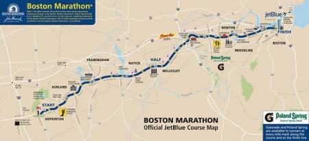 Ruta del Maraton de Boston