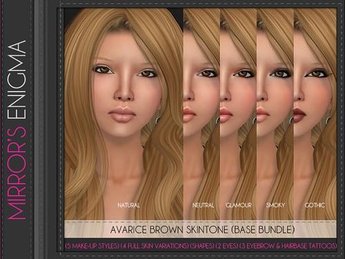 Avarice Brown Skintone Base Bundle