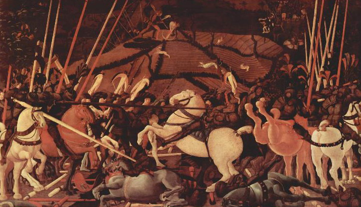 8. Carga de la caballería pesada medieval. Obra de Paolo Ucello (1397-1475)