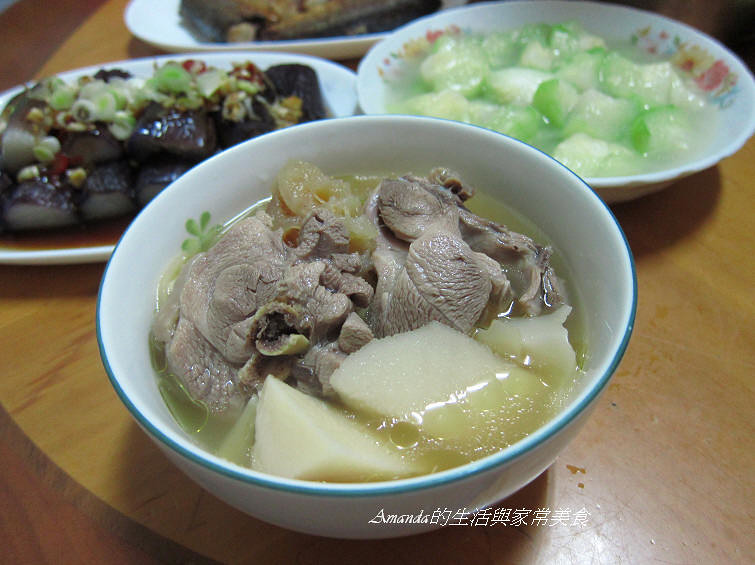 蔭冬瓜竹筍雞湯
