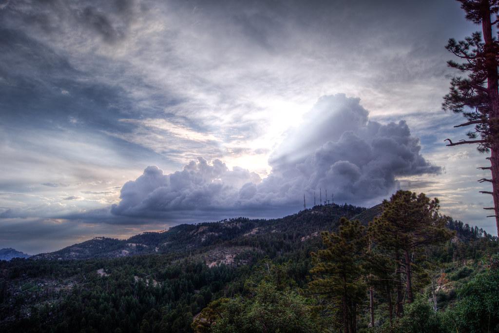 1307 Clouds behind Mount Bigelow