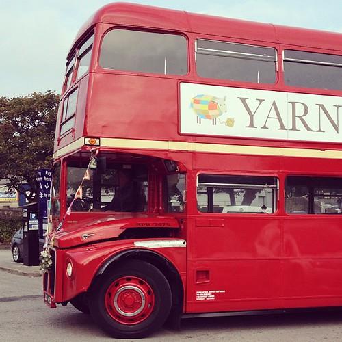 Bus to #yarndale