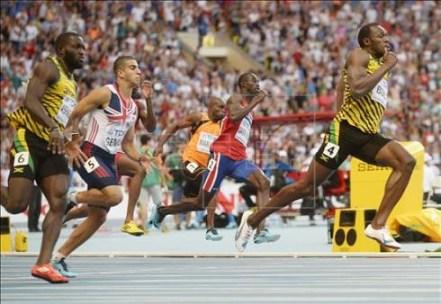 Usain Bolt gana los 200m en el Mundial de Atletismo 2013