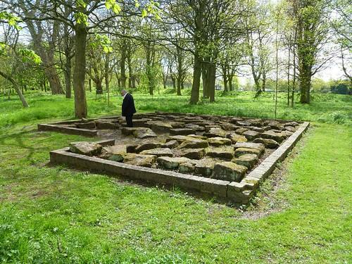 Stones from a Roman bridge in Bitts Park