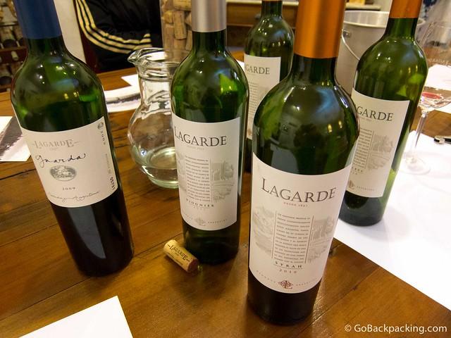 Wine tasting at Lagarde