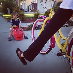 Happy pink and yellow cruiser... Happy Mother's Day indeed!