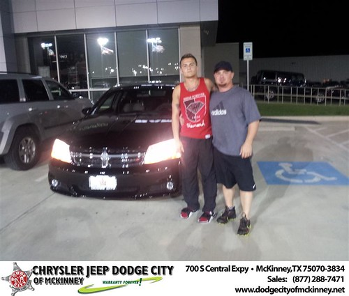 Dodge City of McKinney would like to say Congratulations to Maurice Brittain on the 2013 Dodge Avenger from Brent Villarreal by Dodge City McKinney Texas