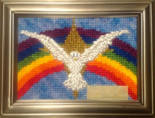 Rainbow Dove Stitched by Carmen CS