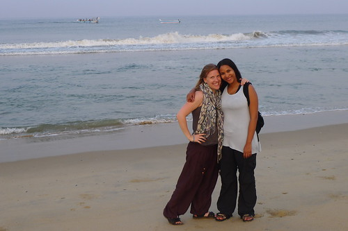 Me and Suze Walking Along the Arabian Sea