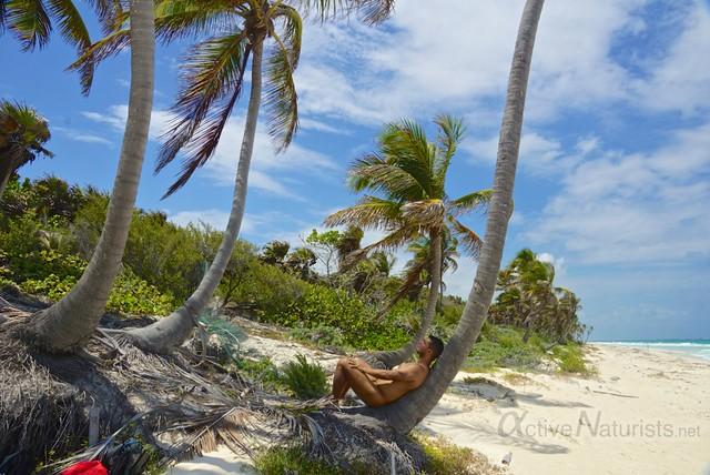 naturist 0002 Sian Kaan beach, Quintana Roo, Mexico