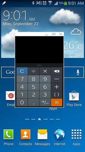 Pen Window เปิด App อย่างย่อขึ้นมาใช้งาน โดยกำหนดขนาดพื้นที่ของ App ได้