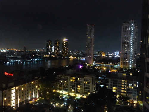 night view from apartment bangkok
