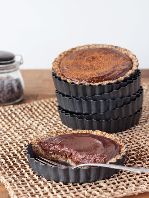Chocolate hazelnut tartlets