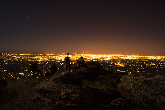1305 Tucson Lights from Point 4981 above Hairpin Turn