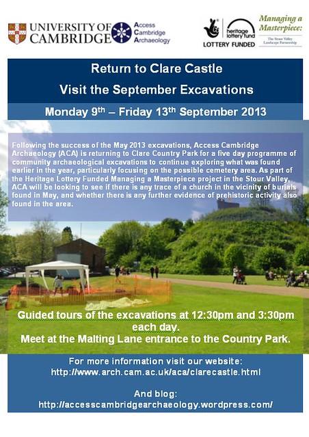 Clare Castle September Visit Poster