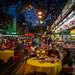 Straßenrestaurants. Kuala Lumpur / Malaysia