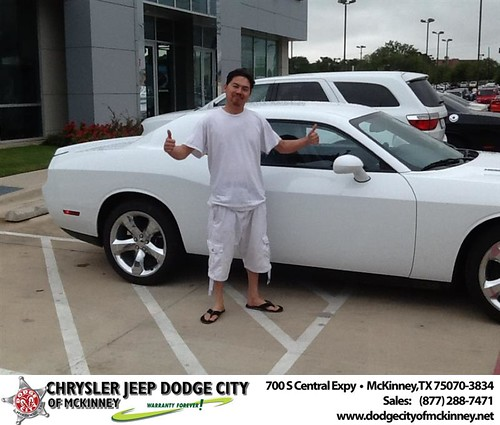 Thank you to Yia Vang on your new 2014 #Dodge #Challenger from Joe Ferguson  and everyone at Dodge City of McKinney! #RollingInStyle by Dodge City McKinney Texas