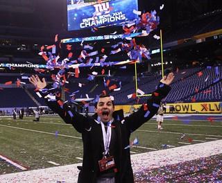 Chris at Super Bowl XLVI