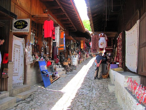 Kruje, Albania-Old Alleyway with Shops