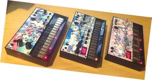 ゆゆ式 痛volca: KORG volca 3 models with overlays of yuyushiki