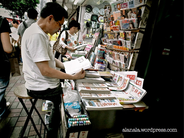 Newstand owner: What I sell is bad for you, read book instead.