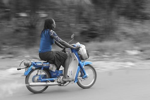 Iheaka Village Female Motorcyclist by Jujufilms