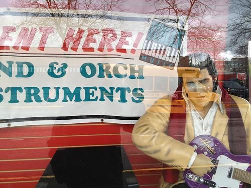 Elvis in the Window by DRheins